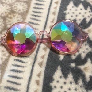Accessories - Kaleidoscope Sunglasses Rainbow Crystal Lenses